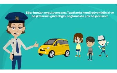 Çocuklar İçin Trafik Kuralları Eğitimi - Animasyon