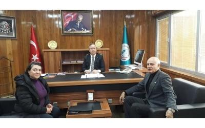 Üsküdar İlçe Milli Eğitim Müdürü Sayın Sinan AYDIN' ı Makamında Ziyaret Ettik