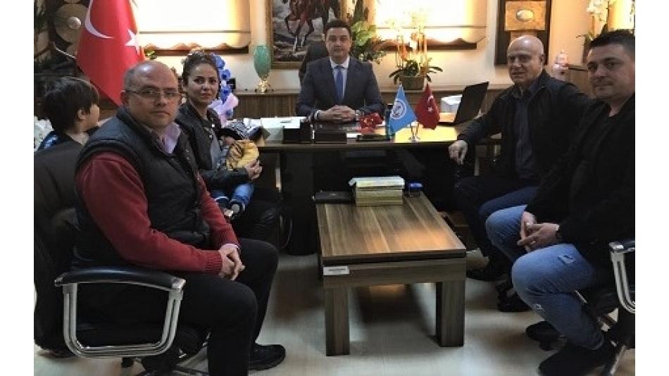 Eyüp İlçe Milli Eğitim Müdürü Sayın Alper Asım ÖZER' İ Makamında Ziyaret Ettik