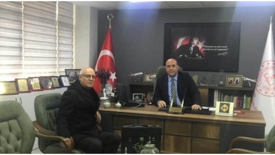 Esenler İlçe Milli Eğitim Müdürü Sayın Mehmet Nurettin ARAS' ı Makamında Ziyaret Ettik